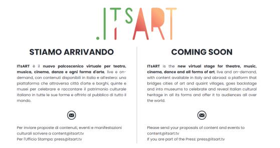 itsart, piattaforma digitale,